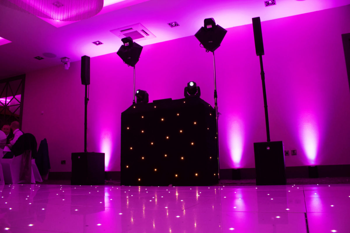 Uplighting at Hetland Hall Hotel Dumfries